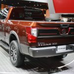 2016 Nissan Titan XD rear three quarters left at the 2015 Detroit Auto Show