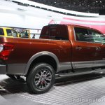 2016 Nissan Titan XD rear three quarters right at the 2015 Detroit Auto Show