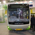 Ashok Leyland Optare Versa EV front at the Bus and Special Vehicles Show 2015