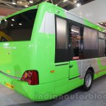 Ashok Leyland Optare Versa EV rear quarter at the Bus and Special Vehicles Show 2015