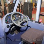 Ashok Leyland Optare Versa EV steering at the Bus and Special Vehicles Show 2015