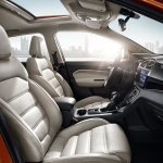 MG GS SUV front seats press photograph