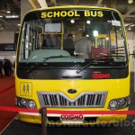 Mahindra Tourister School Bus front at Bus and Special Vehicles Show 2015