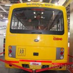 Mahindra Tourister School Bus rear at Bus and Special Vehicles Show 2015