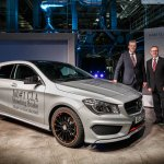 Mercedes Benz CLA Shooting Brake production front Hungary plant