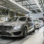 Mercedes Benz CLA Shooting Brake production front three quarter Hungary