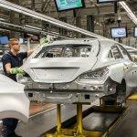 Mercedes Benz CLA Shooting Brake production rear Hungary