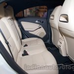 Mercedes CLA rear seat India launch
