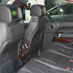 Range Rover rear seat interior at the 2015 Detroit Auto Show