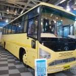 Tata 1512 Luxury Bus at the Bus and Special Vehicles Expo 2015