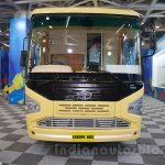 Tata 1512 Luxury Bus front at the Bus and Special Vehicles Expo 2015