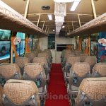 Tata 1512 Luxury Bus interior at the Bus and Special Vehicles Expo 2015