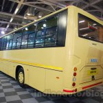 Tata 1512 Luxury Bus rear quarters at the Bus and Special Vehicles Expo 2015