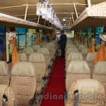 Tata 1512 Luxury Bus seats at the Bus and Special Vehicles Expo 2015