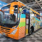 Tata Starbus Articulated front quarters at the Bus and Special Vehicles Expo 2015
