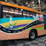 Tata Starbus Articulated rear at the Bus and Special Vehicles Expo 2015