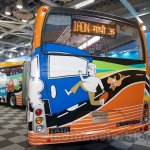 Tata Starbus Articulated rear end at the Bus and Special Vehicles Expo 2015