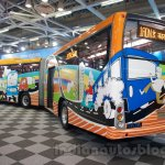 Tata Starbus Articulated rear quarter at the Bus and Special Vehicles Expo 2015