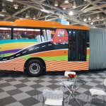 Tata Starbus Articulated side at the Bus and Special Vehicles Expo 2015