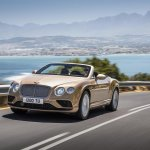 2015 Bentley Continental GTC press shot front quarter
