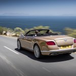 2015 Bentley Continental GTC press shot rear three quarter