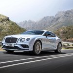 2015 Bentley Continental V8 S press shot front quarter
