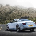 2015 Bentley Continental V8 S press shot rear quarter