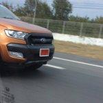 2015 Ford Ranger Wildtrack facelift grille spied