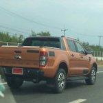2015 Ford Ranger Wildtrack facelift rear spied
