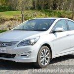 2015 Hyundai Verna diesel facelift front quarter photo