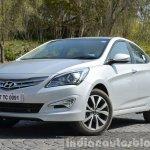 2015 Hyundai Verna diesel facelift front quarters