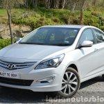 2015 Hyundai Verna diesel facelift front three quarter
