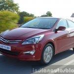 2015 Hyundai Verna petrol facelift front quarter