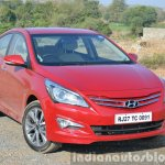 2015 Hyundai Verna petrol facelift front three quarter