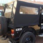 2015 Mahindra Thar spyshot rear canopy