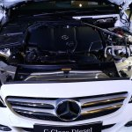 2015 Mercedes C Class Diesel launch engine bay