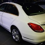 2015 Mercedes C Class Diesel launch rear three quarter