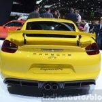 2015 Porsche Cayman GT4 rear view at 2015 Geneva Motor Show