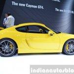 2015 Porsche Cayman GT4 side view at 2015 Geneva Motor Show