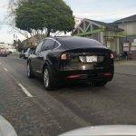 2015 Tesla Model X spied rear quarter
