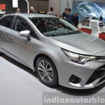 2015 Toyota Avensis front three quarter view at the 2015 Geneva Motor Show