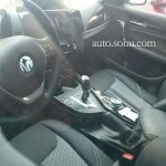 2016 BMW 1 Series facelift interior China spied