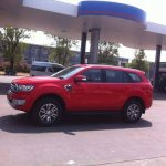 2016 Ford Endeavour red spied