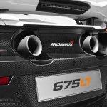 2016 McLaren 675LT press shot rear tailpipes