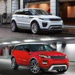 2016 Range Rover Evoque vs 2015 Range Rover Evoque front quarter