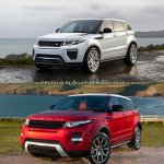 2016 Range Rover Evoque vs 2015 Range Rover Evoque front three quarter