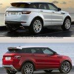 2016 Range Rover Evoque vs 2015 Range Rover Evoque rear three quarter