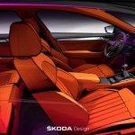 2016 Skoda Superb interior sketch