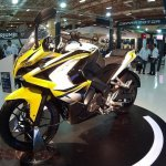 Bajaj Pulsar 200 SS front quarter Motor Fair Turkey