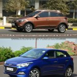 Hyundai i20 Active vs Hyundai Elite i20 front quarter